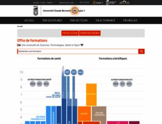 offre-de-formations.univ-lyon1.fr screenshot