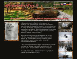 offroadadventure.lv screenshot