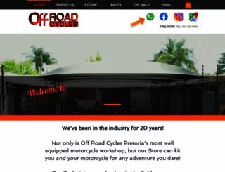 offroadcycles.co.za screenshot