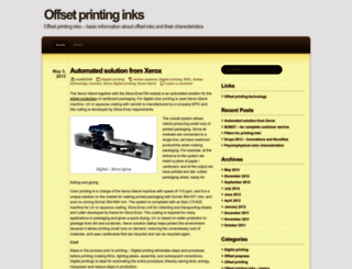offsetprintinginks.wordpress.com screenshot
