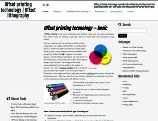 offsetprintingtechnology.com screenshot