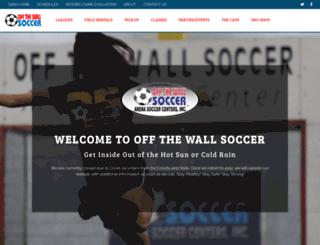offthewallsoccer.com screenshot