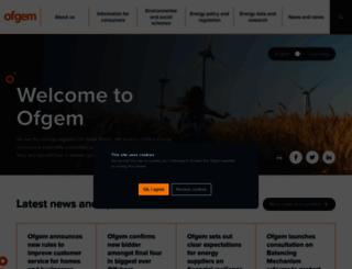 ofgem.gov.uk screenshot