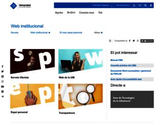 oficinaweb.uib.cat screenshot