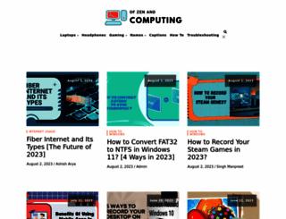 ofzenandcomputing.com screenshot