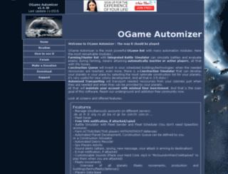 ogameautomizer.com screenshot