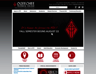 ogeecheetech.edu screenshot