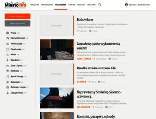 ogloszenia.miasto-info.pl screenshot