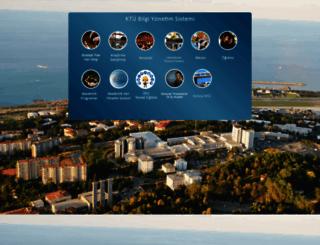 ogrweb.ktu.edu.tr screenshot