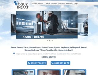 oguzinsaat.com.tr screenshot
