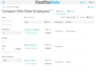 ohio-employees.findthedata.org screenshot