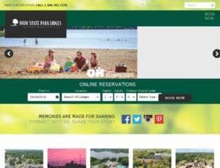 ohiostateparklodges.com screenshot