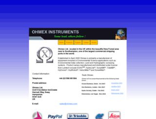 ohmex.co.uk screenshot