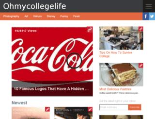 ohmycollegelife.com screenshot