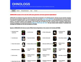 ohnologs.curie.fr screenshot