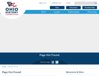 ohsweb.ohiohistory.org screenshot