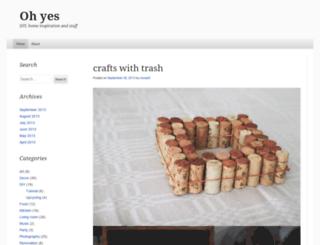 ohyesblog.wordpress.com screenshot