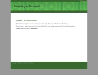 oif.dartmouth.edu screenshot