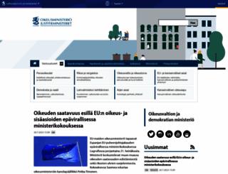oikeusministerio.fi screenshot