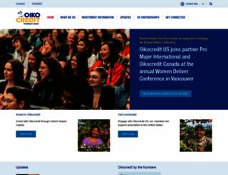 oikocredit.org screenshot