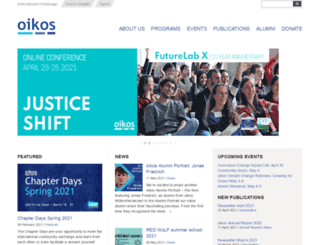 oikos-international.org screenshot