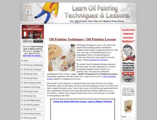 oilpaintingtechniqueslessons.com screenshot