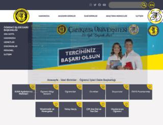 oim.cankaya.edu.tr screenshot