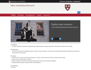 oir.harvard.edu screenshot