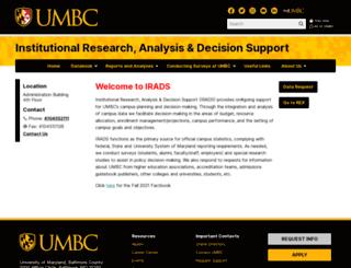 oir.umbc.edu screenshot