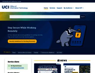 oit.uci.edu screenshot