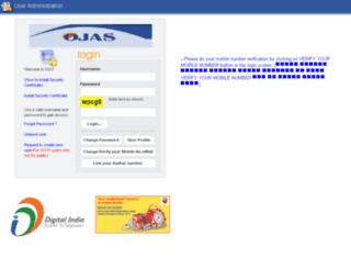 ojasadmin.guj.nic.in screenshot
