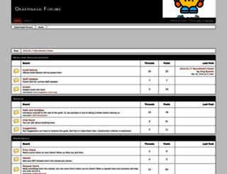 okaerinasai.boards.net screenshot