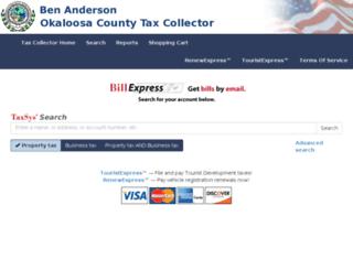 okaloosa.county-taxes.com screenshot