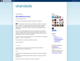 okandede.blogspot.com screenshot