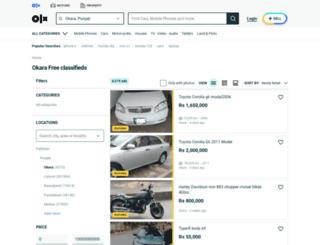okara.olx.com.pk screenshot