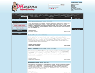 okbazar.cz screenshot