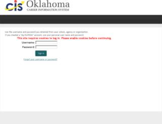 okcis.intocareers.org screenshot
