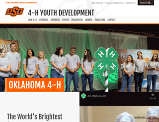 oklahoma4h.okstate.edu screenshot