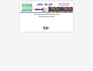 oklahomacityhomeandgardenshow.tix123.com screenshot