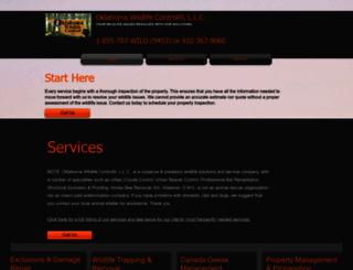 oklahomawildlifecontrol.com screenshot