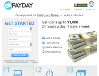 okpayday.usloanadvances.com screenshot
