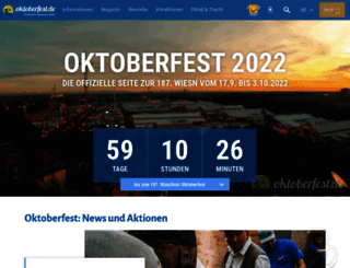 oktoberfest.de screenshot