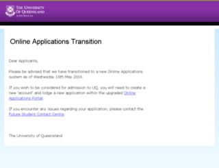 olas.uq.edu.au screenshot