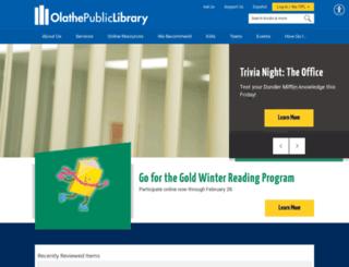 olathelibrary.org screenshot