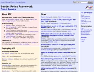 old.openspf.org screenshot