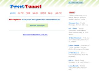 old.tweettunnel.com screenshot