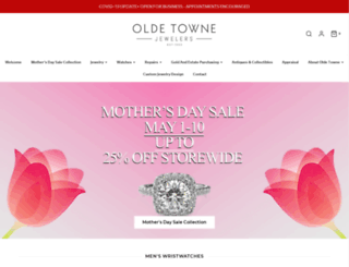 oldetownejewelers.com screenshot