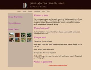 oldfashionsnailmailpenpals.webs.com screenshot