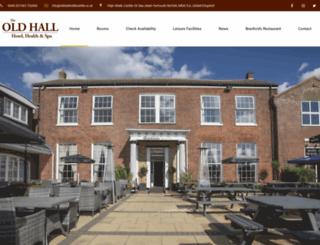 oldhallhotelcaister.co.uk screenshot