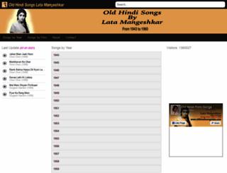 oldhindisongslata.com screenshot